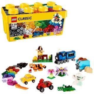 【LEGO 樂高】經典套裝 樂高中型創意拼砌盒桶 10696 積木 玩具(10696)