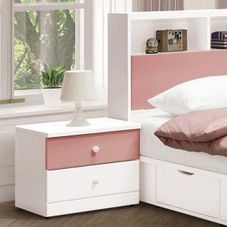 【H&D】雲朵粉紅色床頭櫃(床頭櫃 床邊櫃 收納櫃 置物櫃 抽屜櫃 櫃)