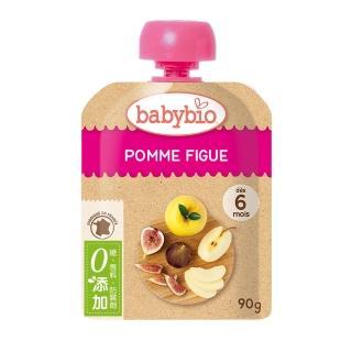 【BABYBIO】有機蘋果無花果纖果泥(90g)