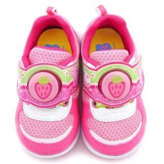 【童鞋城堡】佩佩豬 草莓LED電燈運動鞋 粉紅豬小妹(PG6421-粉)