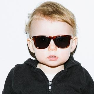 【Hipsterkid】抗UV偏光嬰幼兒童太陽眼鏡- 奢華玳瑁(附固定繩)