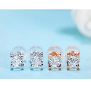 【光彩鑽石】北極星鑽石耳環