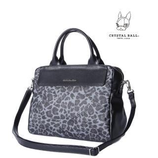 【CRYSTAL BALL狗頭包】Leopard Panache手提肩背兩用包(狗頭包)