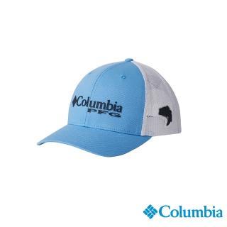【Columbia 哥倫比亞】男女款-LOGO PFG棒球帽-藍色(UCU95250BL / 休閒.踏青.戶外)