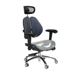 【GXG 吉加吉】高雙背網座 工學椅 /鋁腳/升降滑面扶手(TW-2806 LUA6)