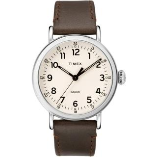 【TIMEX】天美時 復刻系列 簡約復古手錶-卡其40mm(TXTW2T20700)