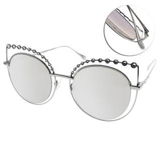 【CARIN】摩登晶鑽貓眼款眼鏡(槍-淺白水銀#TIARA C1)