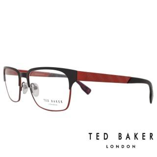 【TED BAKER】英倫城市金屬質感造型光學眼鏡(TB4195-002·紅)