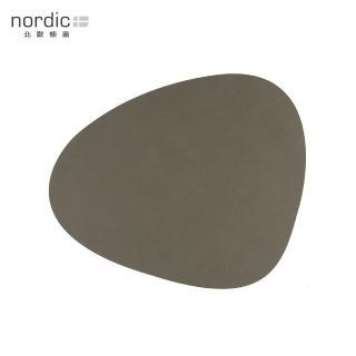 【北歐櫥窗】LIND DNA NUPO 皮革餐墊(曲線、軍綠)