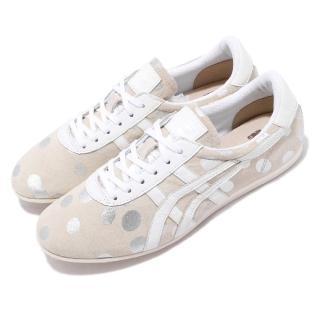 【asics 亞瑟士】休閒鞋 Tai-Chi Hiina 復古 女鞋 亞瑟士 日本製 麂皮 點點 流行 米白 銀(TH0E4L9993)