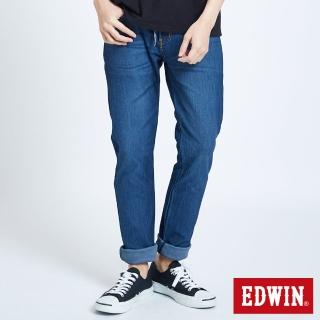 【EDWIN】JERSEYS迦績窄直筒褲-男款(拔洗藍)