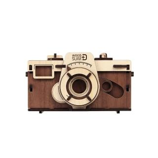 【WOODSUM】韓國 WOODSUM 輕手作。木製模型/35mm針孔相機/深色款(模型)