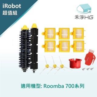 【禾淨家用HG】iRobot Roomba 760 770 780 790掃地機副廠配件(膠刷 濾網 邊刷組)