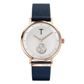 【TYLOR】夢想時尚T字時刻腕錶-深藍色(TLAJ004)
