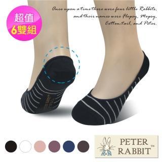 【PETER RABBIT 比得兔】後跟防滑隱形襪6雙組(專櫃精品)