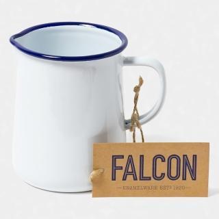 【英國 Falcon】獵鷹琺瑯 琺瑯1品脫冷水壺 586ml 藍白