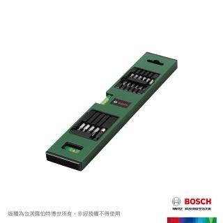 【BOSCH 博世】三合一水準尺17件套裝組(附起子頭、磁性接桿)