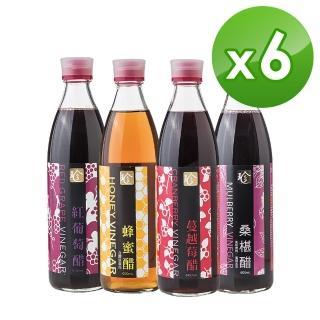 【百家珍】調整體質好醋6入組(蔓越莓/紅葡萄/桑葚/蜂蜜)