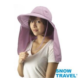 【SNOW TRAVEL】AH-10 抗UV透氣護頸遮陽圓盤帽(防曬/遮陽/戶外/休閒/抗UV)