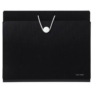 【LIHIT LAB】A-7674 noie-style A5壁掛式風琴夾(黑)