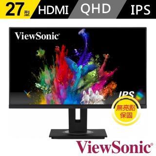 【ViewSonic 優派】VG2755-2K 27型 WQHD IPS無邊框顯示器