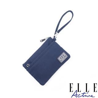 【ELLE active】透視網布系列-零錢包-深藍色