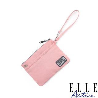【ELLE active】透視網布系列-零錢包-粉紅色