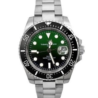 【Valentino Coupeau】黑綠色不鏽鋼錶