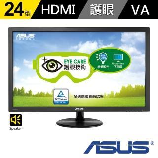【ASUS 華碩】VP247HA-P 24型 低藍光 不閃屏 螢幕(黑)