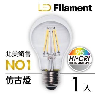 【TCP】LED Filament復刻版鎢絲燈泡_A60 6W(1入)