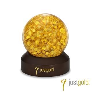 【Just Gold 鎮金店】工藝擺件-金箔水晶球