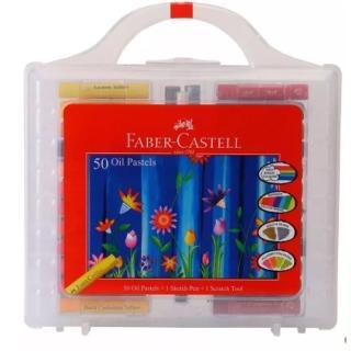 【Faber-Castell】粗芯精裝油性粉彩條50色(126050)