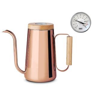 【TOAST】H.A.N.D 咖啡手沖壺附溫度計800ml_紅銅色