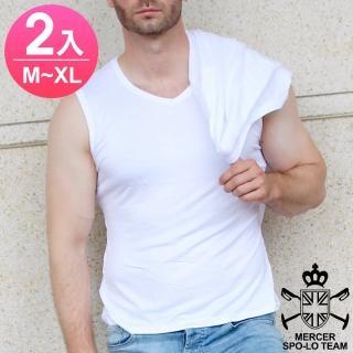 【麥瑟保羅 MERCER SPO-LO】歐式休閒涼感柔暖寬肩背心(黑白M-XL-2件)