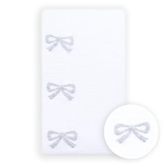 【公主童襪】超細纖維側邊銀色蝴蝶結兒童褲襪(3-12歲)