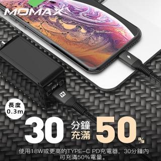 【Momax】Elite Link Lightning to Type-C 傳輸線DL30-0.3m