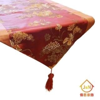 【J&N】麗緻檯布●橘紅(38*130cm)