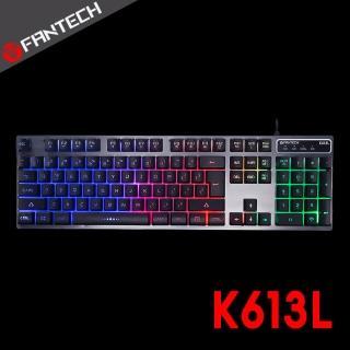 【FANTECH】多色燈效鋁合金面板鍵盤(K613L)