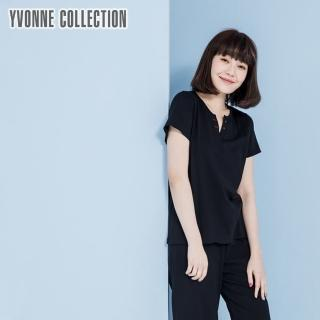 【Yvonne Collection】小V門襟上衣(黑)