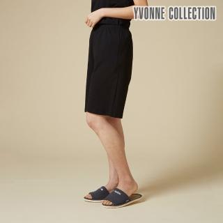 【Yvonne Collection】寬版五分褲(黑)