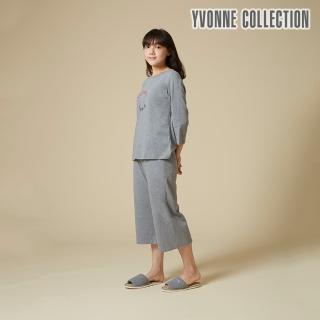 【Yvonne Collection】BON VOYAGE七分袖上衣(暗灰)