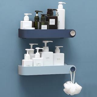 無痕免打孔 掛勾小物收納 廚房浴室防水置物架 透明貼免鑽孔 壁掛大容量收納架