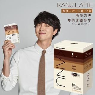 【MAXIM 麥心】KANU Double Shot Latte 漸層奶香無糖雙倍濃縮拿鐵咖啡 30包入(13.5公克x30入)