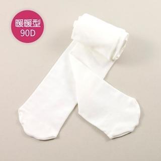 【公主童襪】90D秋冬溫暖米白色超細纖維兒童褲襪(0-12歲)- 3歲以下止滑