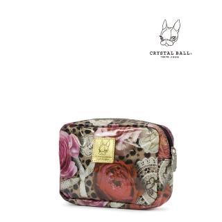 【CRYSTAL BALL狗頭包】Leopard Flower化妝小物包(狗頭包)