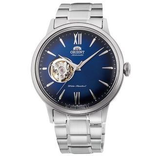 【ORIENT 東方錶】東方錶SEMI-SKELETON鏤空機械鋼帶錶-藍(RA-AG0028L)