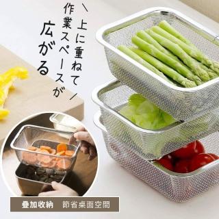 【日本新瀉燕三條】304不鏽鋼深型調理碗/過濾網(超值六件組)