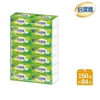 【PASEO 倍潔雅】柔軟舒適抽取式衛生紙(150抽84包/箱)