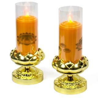 【AYAPU 悅亞普】插電式環保安全電子蠟燭(VX-CL938AC-橘)