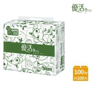 【Livi 優活】Livi 優活 抽取式衛生紙(100抽10包10袋/箱)